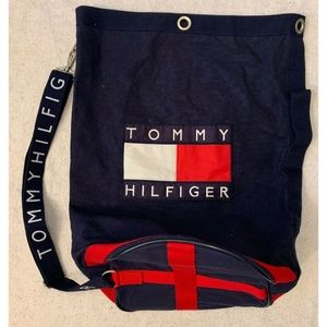 Tommy Hilfiger Big Logo Spell Out Backpack Blue